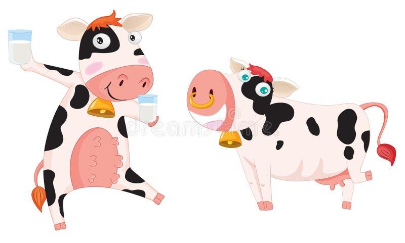 Duas vacas ilustração royalty free