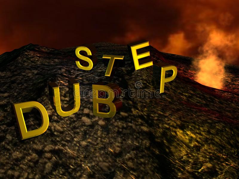 Download Dub Step Volcano stock illustration. Image of step, smoke - 24093836