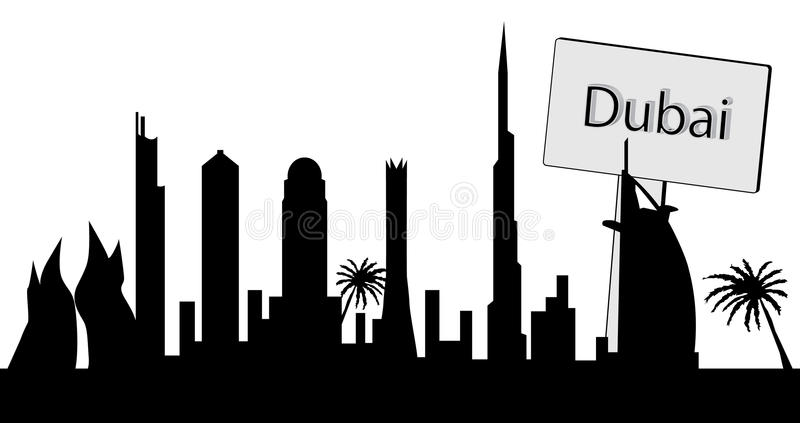Dubaï illustration stock