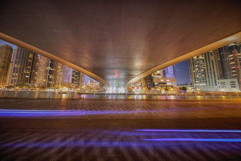 Dubaï Marina Bridge photographie stock