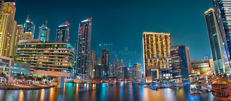 Dubaï Marina Panoramic View photographie stock