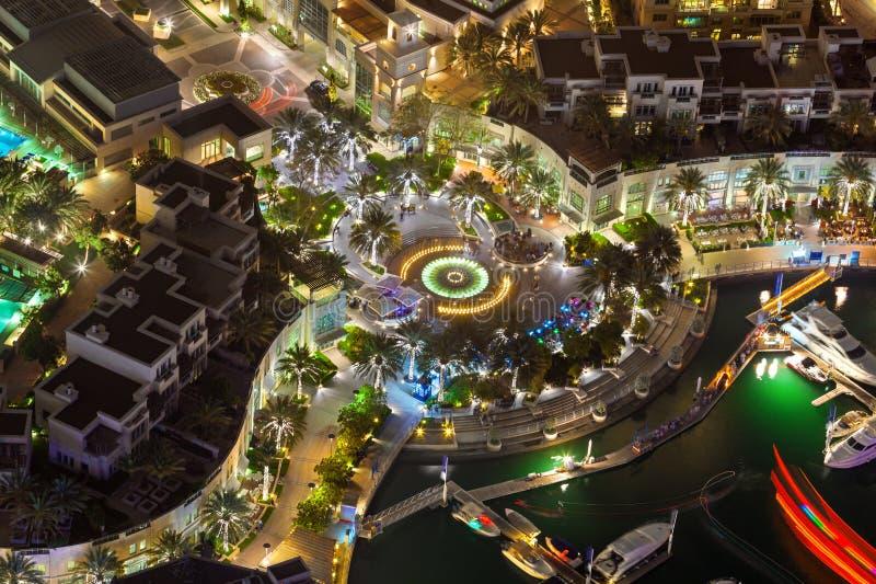 Dubaï Marina Walk Top View image libre de droits