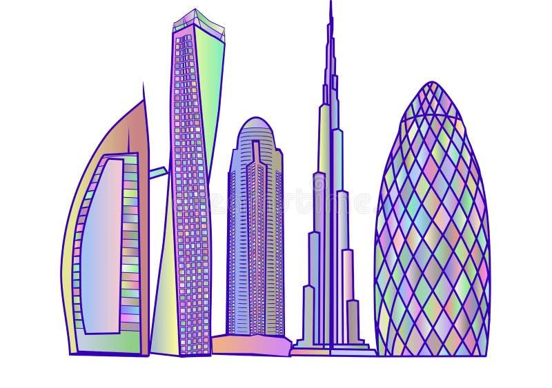 Dubaï skyline2 illustration de vecteur