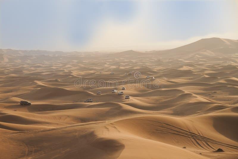 Dubai öken royaltyfria foton