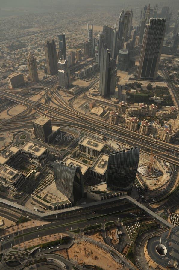 Aerial view of Dubai, United Arab Emirates, Middle East. Aerial view of the Dubai skyline landmark, United Arab Emirates, Middle East stock images