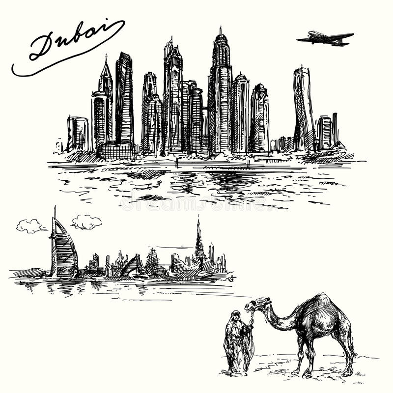 dubai illustration de vecteur