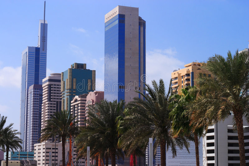 Dubai alta tecnologia fotografia de stock royalty free