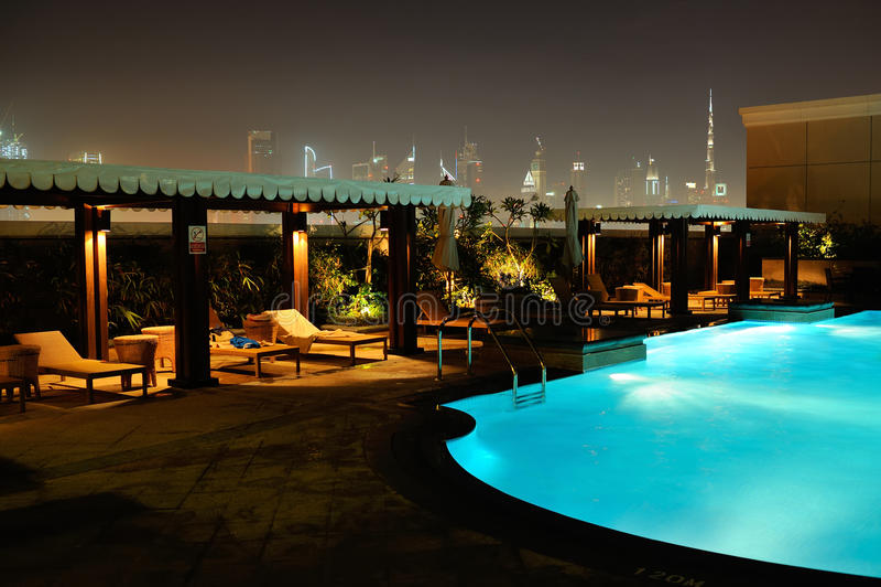 Dubai. Ansicht vom Hotel Ramada Jumeirah stockbild
