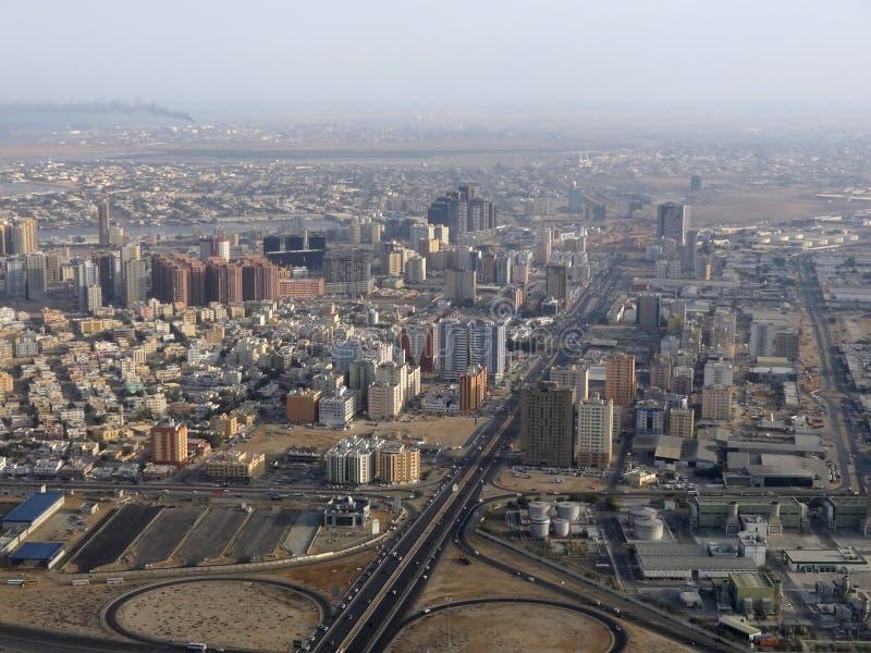 Dubai antennsikt arkivfoto