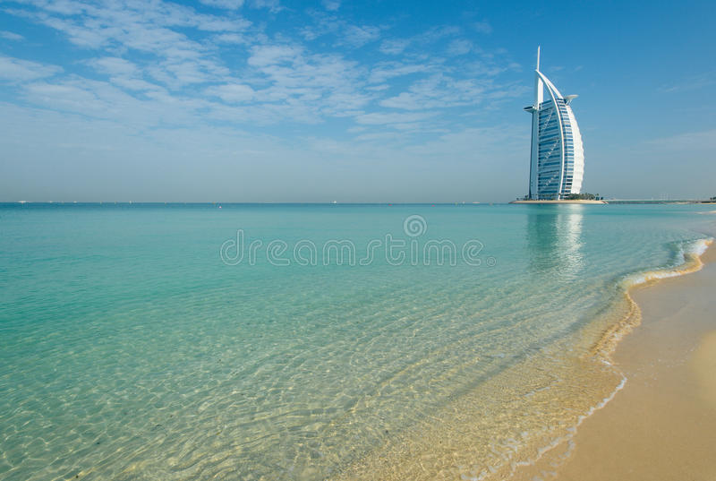 Dubai beach,UAE royalty free stock photography
