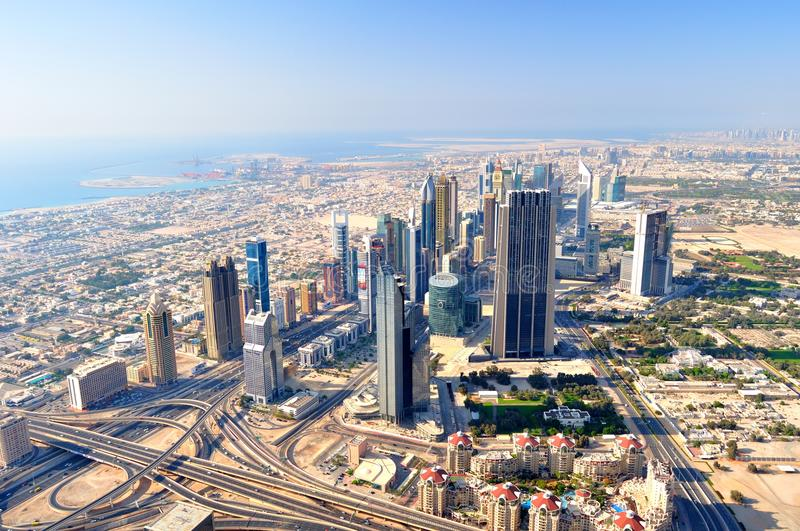 Dubai From The Bird`s Eyes. Stock Images