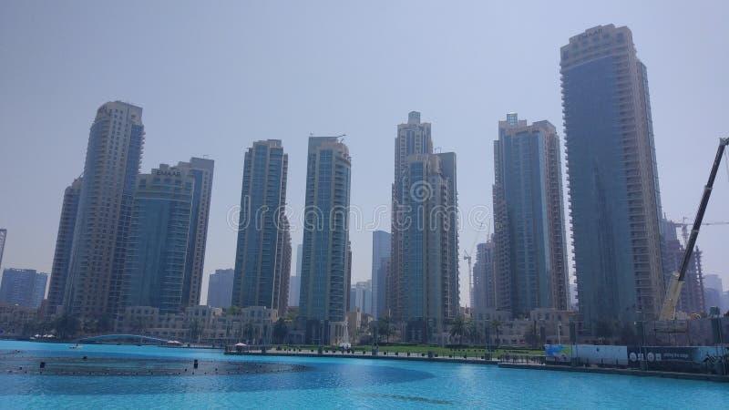 Dubai Burj Khalifa Lake royalty free stock photos