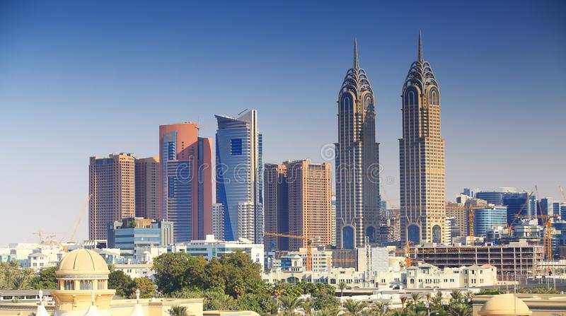 Dubai business centre royalty free stock images