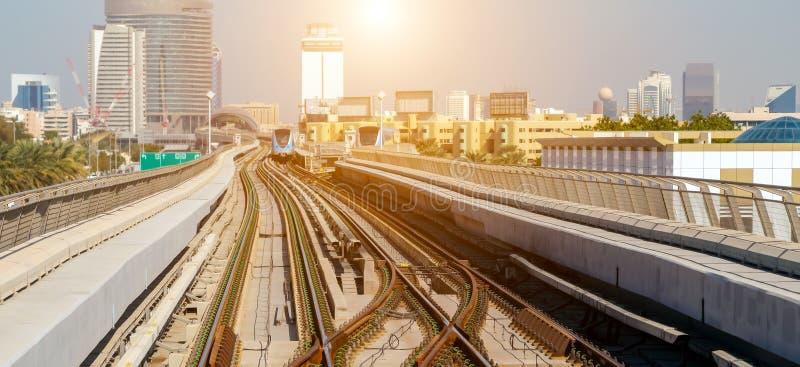 Dubai city Lines Metro stock images
