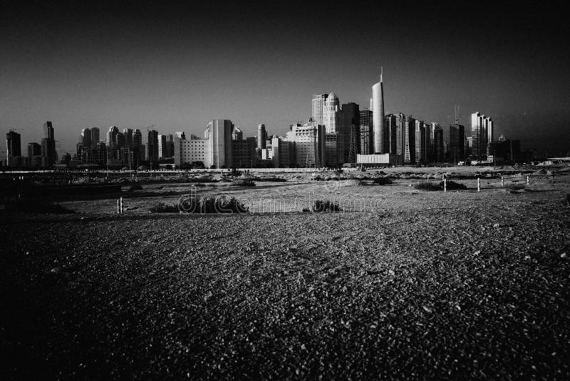 Dubai. City megalopolis panoram construction site royalty free stock images