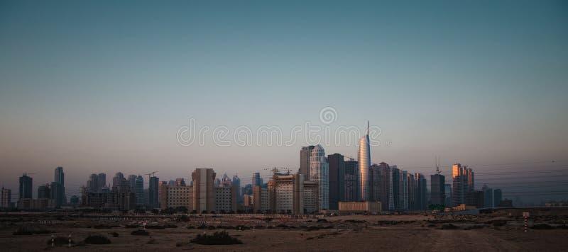 Dubai. City megalopolis panorama construction site stock images