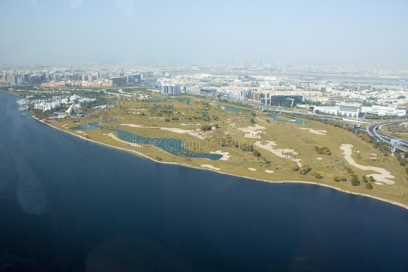 Dubai creek golf club view royalty free stock images