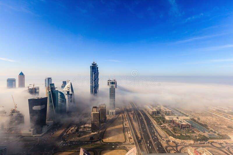 Dubai de niebla fotografía de archivo libre de regalías