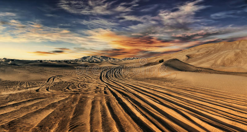 Dubai desert stock photo