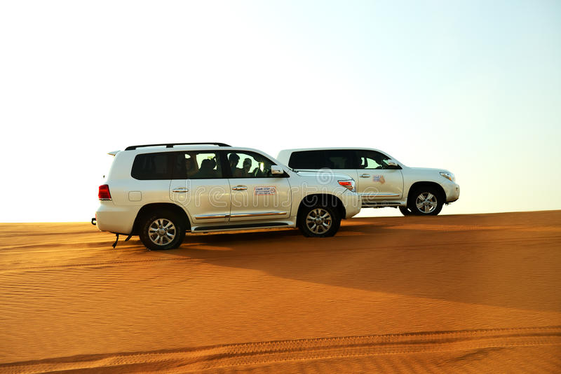 The Dubai Desert Trip In Off-road Car Editorial Photo