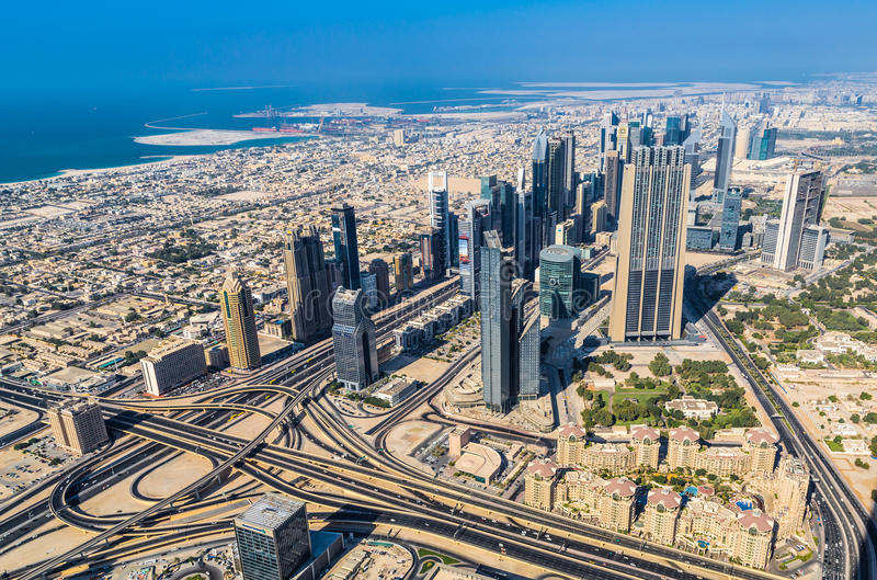 Dubai downtown. East, United Arab Emirates architecture. Aerial. DUBAI, UAE - NOVEMBER 13: Aerial view of Downtown Dubai with man made lake and skyscrapers from stock photos