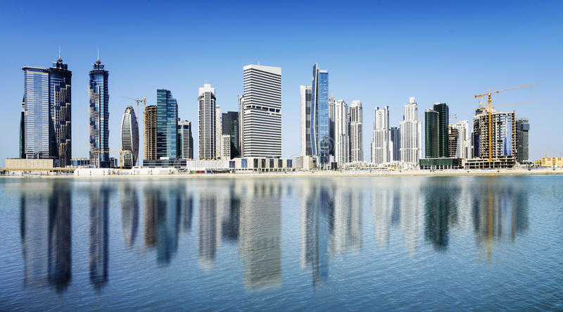 Dubai Downtown royalty free stock image