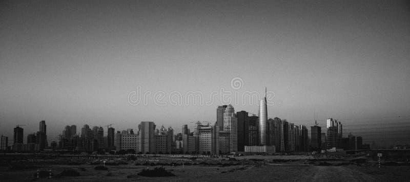 Dubai. City power engineeringi megalopolis panorama royalty free stock images