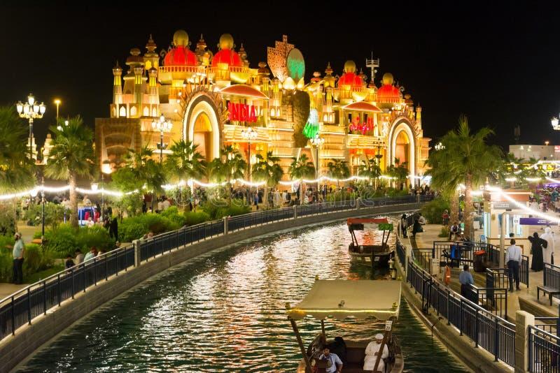 DUBAI, EMIRATOS ÁRABES UNIDOS - 6 DE NOVEMBRO DE 2017: Aldeia global a fotos de stock royalty free