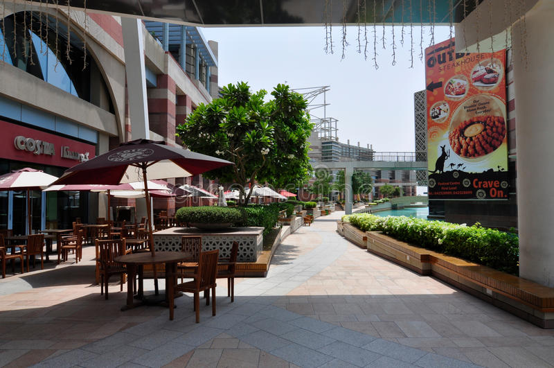 Dubai Festival City Mall food court during ramadam royalty free stock photos