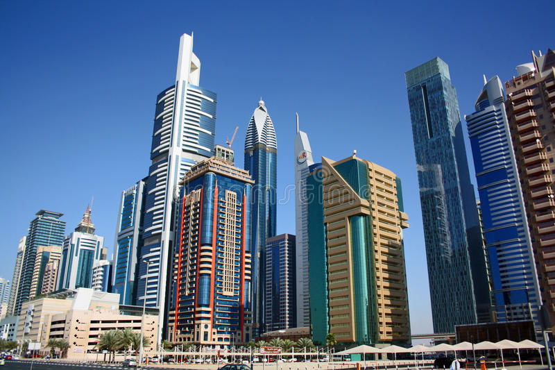 Download Dubai financial district editorial stock image. Image of skyline - 23321084
