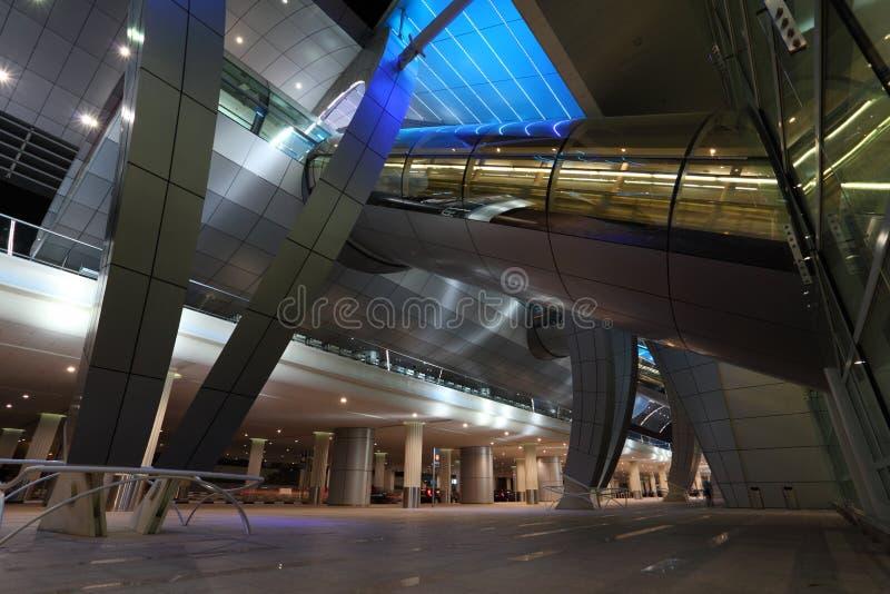 Dubai-Flughafen-Terminal stockfotografie
