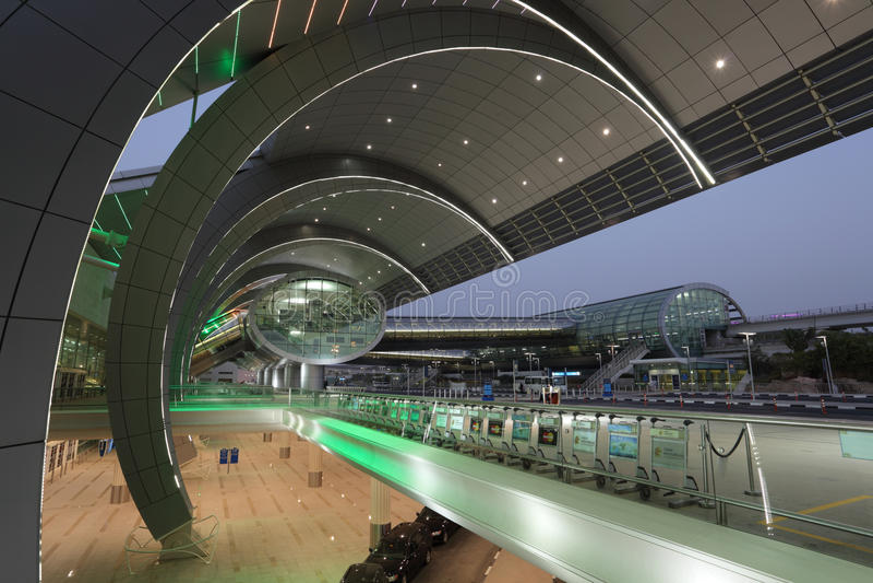 Dubai-Flughafen-Terminal 3 lizenzfreies stockbild