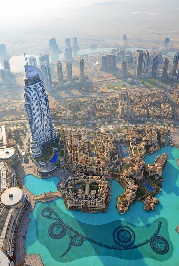 Dubai flyg- sikt arkivfoton