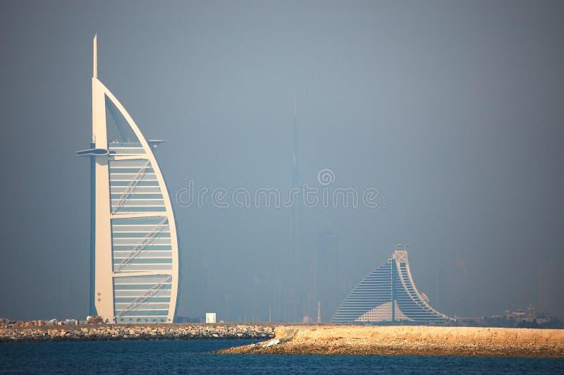 Dubai fog royalty free stock images