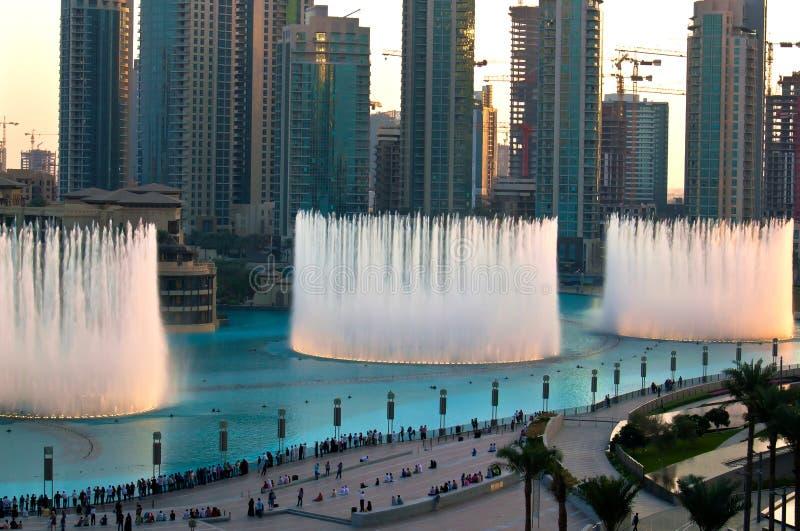 Dubai fountain royalty free stock images