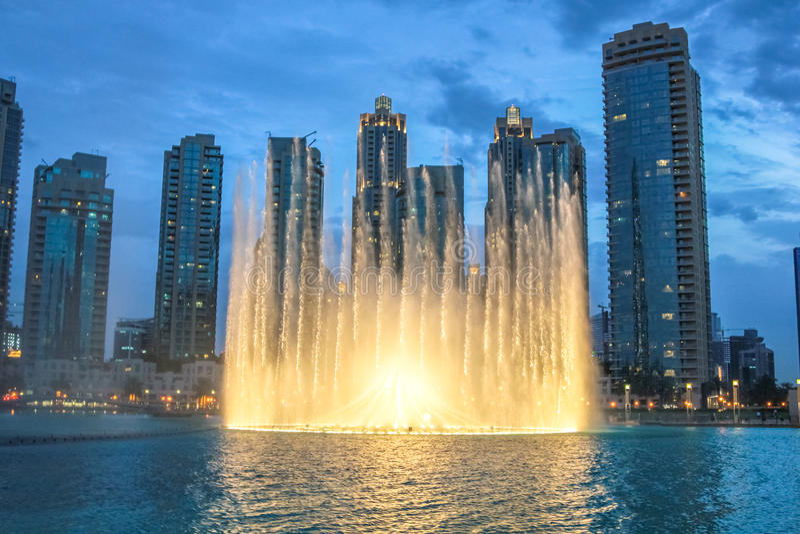 Dubai Fountain night show stock photography