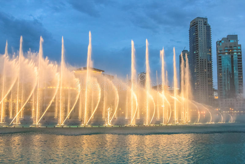The Dubai Fountain royalty free stock photos