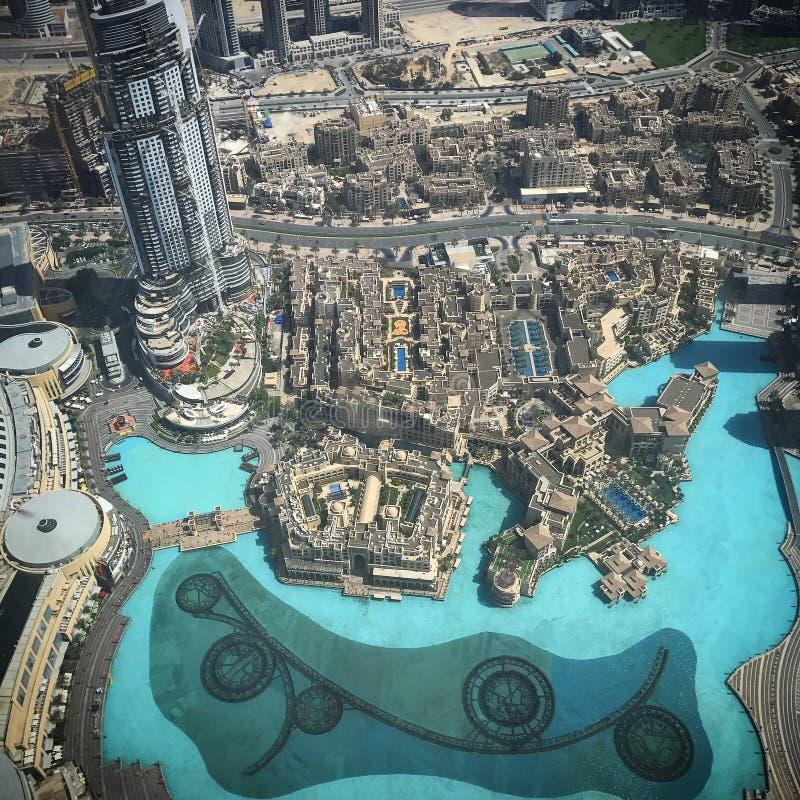Dubai fountains stock photo