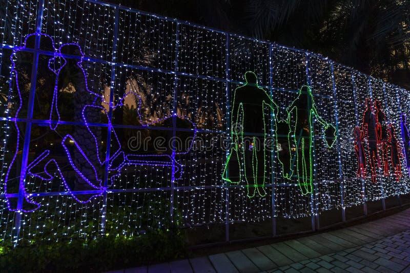 Dubai Garden Glow royalty free stock images