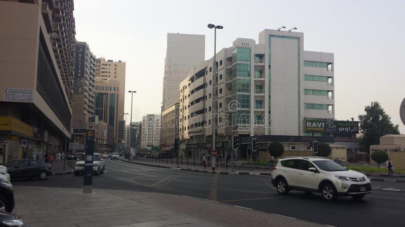 Dubai gata royaltyfria bilder