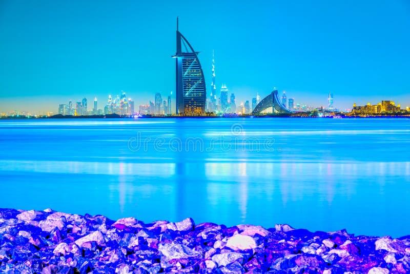 Dubai horisont, Dubai, UAE royaltyfri bild