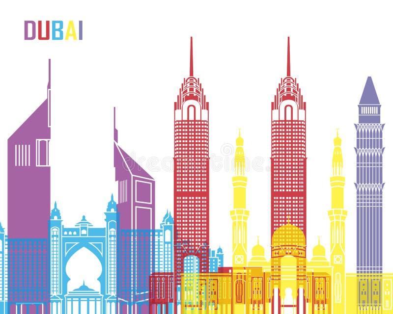 Dubai horisontpop stock illustrationer