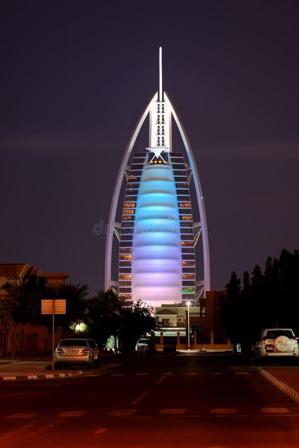 Dubai. Hotel Burj al Arab stock photography