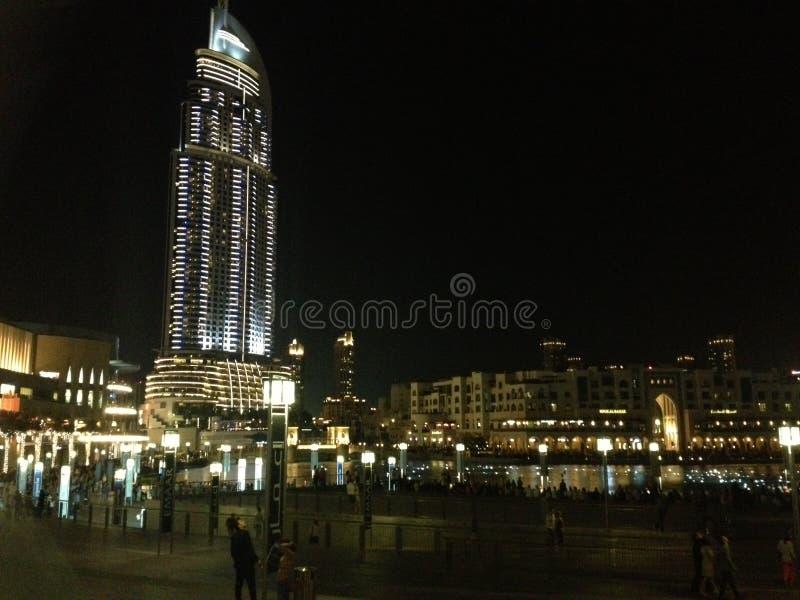 Dubai i stadens centrum cityscape royaltyfri foto
