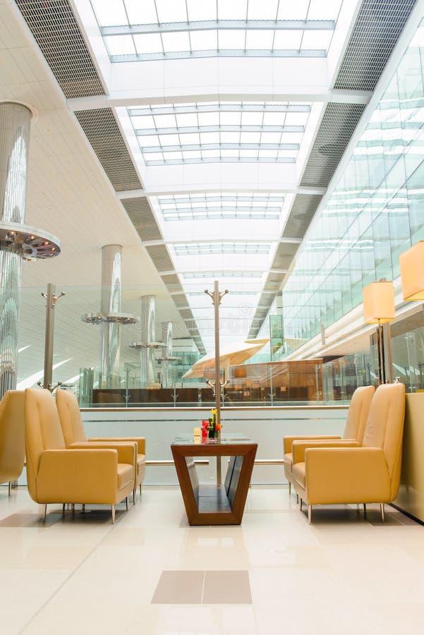 Dubai International lotniska wnętrze obraz stock