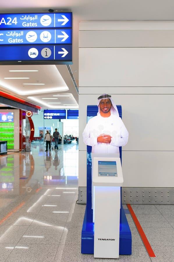 Dubai International lotniska wnętrze obrazy stock