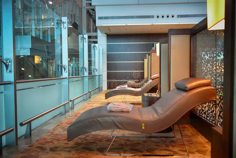 Dubai International lotniska wnętrze zdjęcie stock