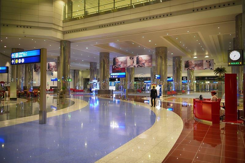 Dubai International lotniska wnętrze fotografia stock