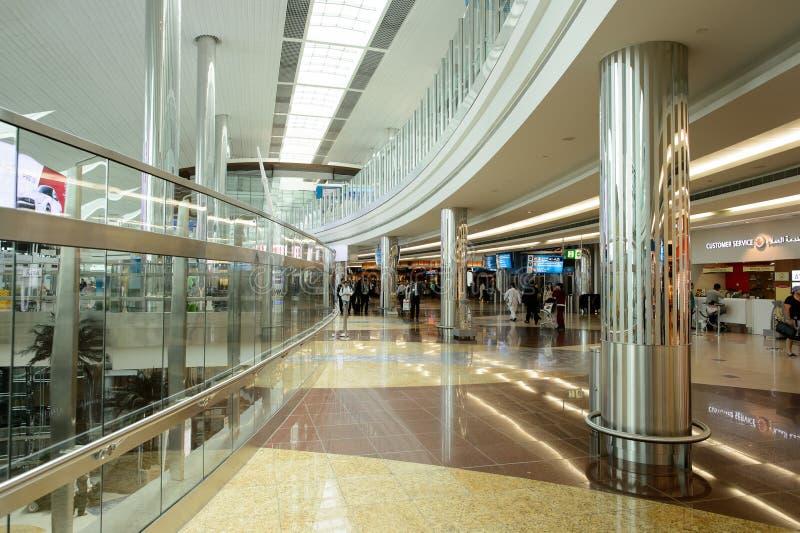 Dubai International lotniska wnętrze zdjęcia royalty free