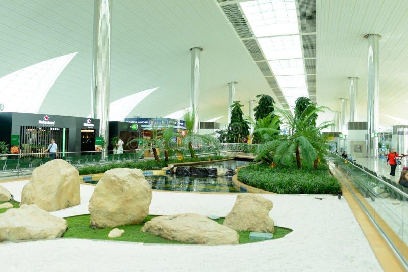 Dubai International lotniska wnętrze zdjęcie royalty free